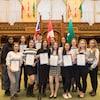 Les membres du Parlement jeunesse francophone de l'Ontario 2020 de la Fédération de la jeunesse franco-ontarienne (FEFSO).