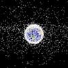 Une esquisse des débris spatiaux qui entourent la planète.