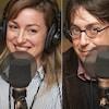 Elsa Pépin, Maxime Catellier et Eveline Marcil-Denault au micro de Catherine Perrin.