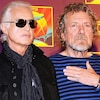 Jimmy Page et Robert Plant de Led Zeppelin en 2012