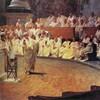 Une peinture du sénat romain de l'Antiquité.