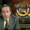 L'animateur Bernard Derome présente un reportage sur l'infiltration de l'ordre du Temple solaire à Hydro-Québec.
