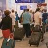 Voyageurs à l'aéroport