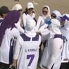Une équipe de balle-molle composé de femmes musulmanes.