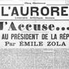 Une lettre au président de la république paru en une du journal L'aurore le 13 janvier 1898.