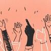 Illustration de plusieurs bras et mains qui gesticulent.