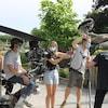 Une équipe de tournage au zoo de Granby.