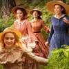 Les quatre filles du Dr. March se baladent dans la forêt.