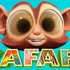 Portrait du visage du petit singe Quincy dans Zafari.