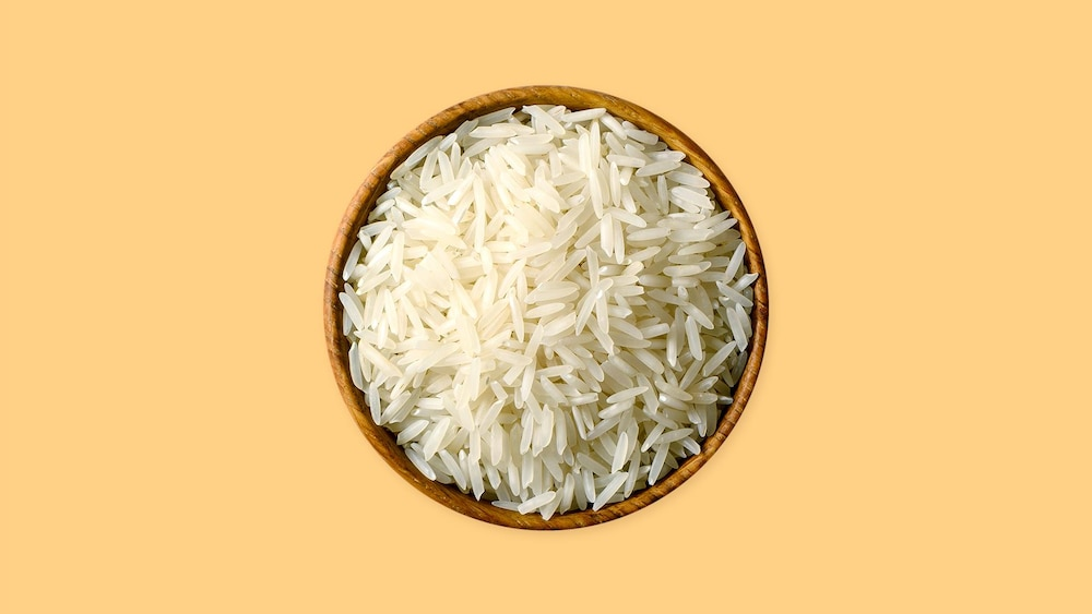 Un bol de riz basmati.