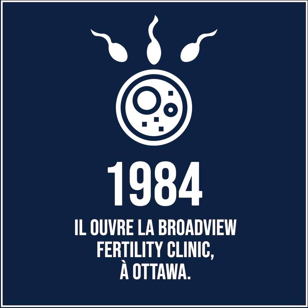 En 1984, le Dr Barwin ouvre la Broadview fertility clinic, à Ottawa.