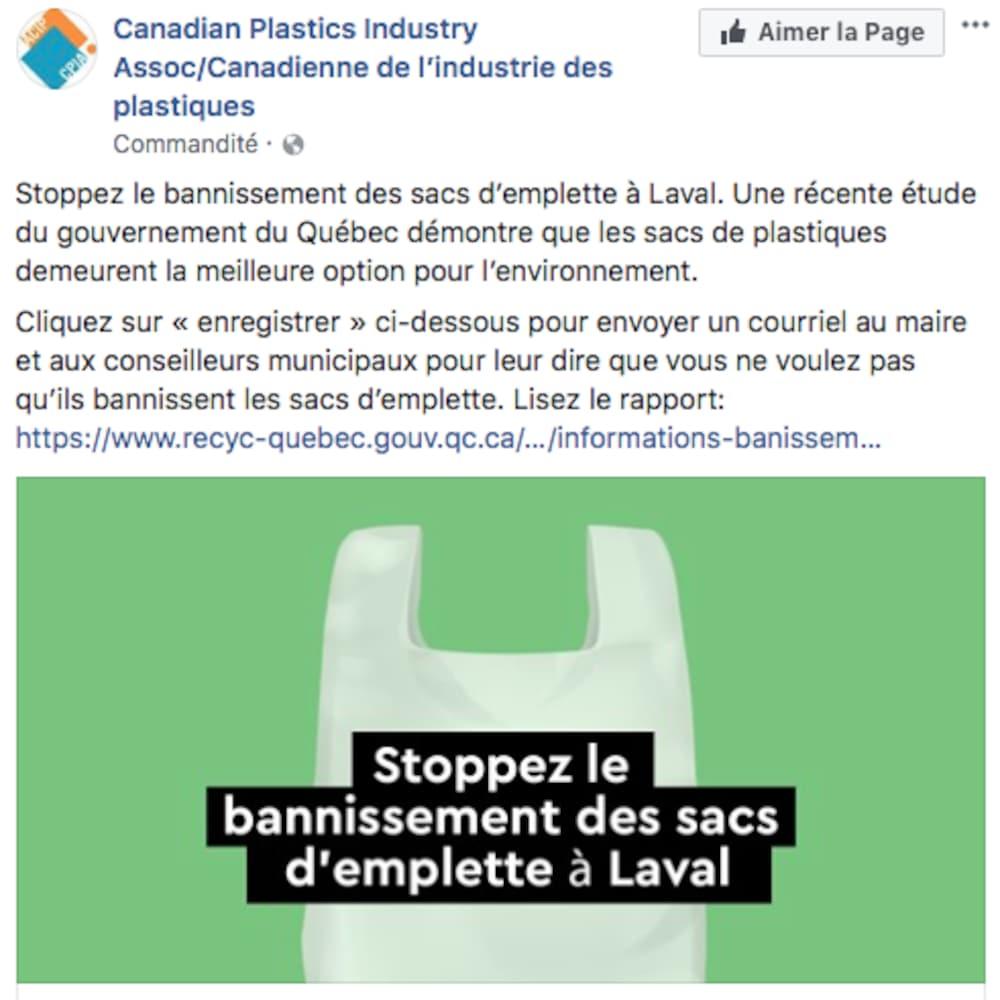 La campagne publicitaire de l'Association canadienne de l'industrie des plastiques