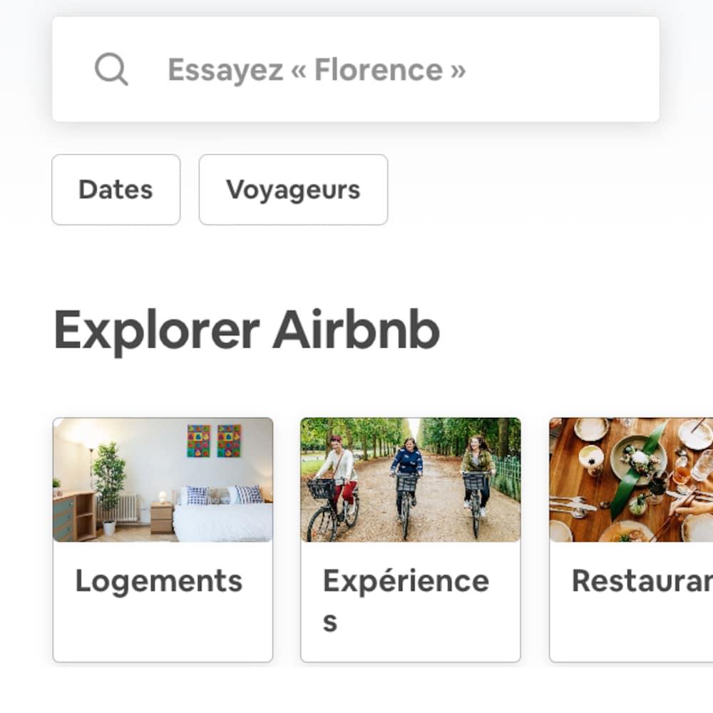 Capture d'écran de l'écran d'accueil de l'appli.