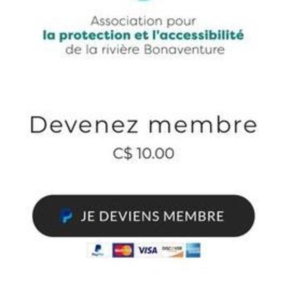 """Une capture d'écran d'un site web où on peut lire """"Devenez membre pour 10$""""."""