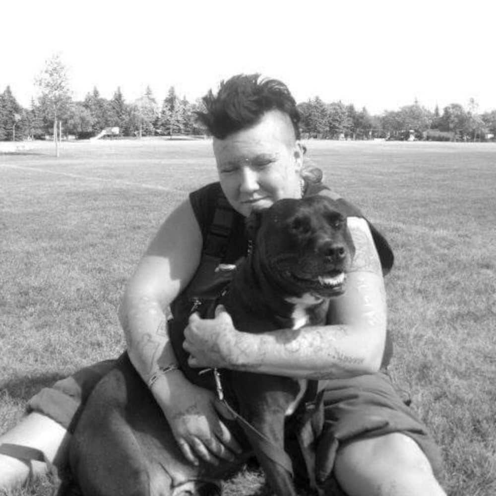 Becks avec son chien Taffy