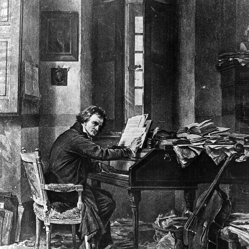 Un portrait de Beethoven, vers 1810.