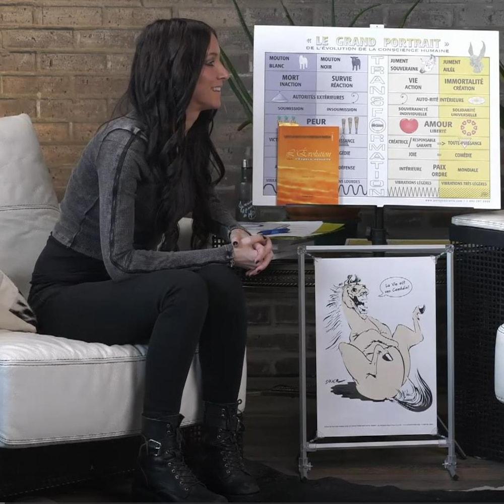 Amélie Paul assise devant Ghis Lanctôt.