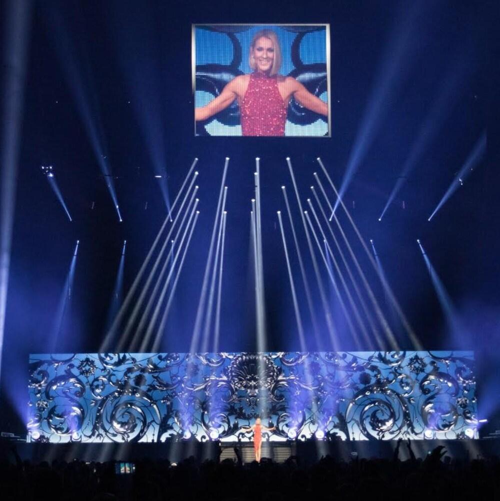 La foule a acclamé Céline à son arrivée sur scène.