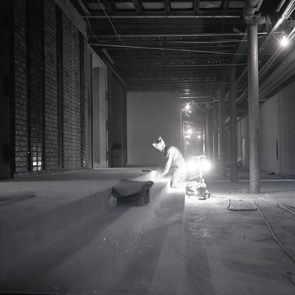 Travailleur sur un chantier