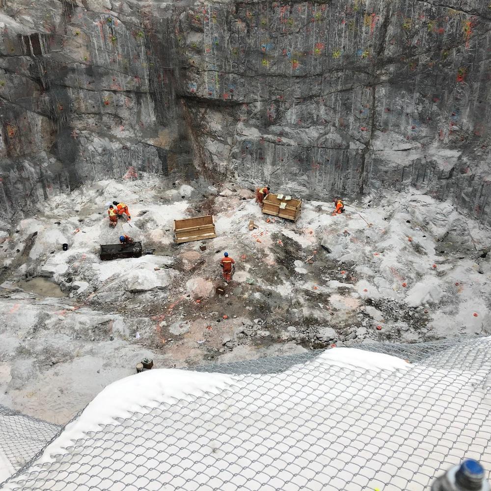 Vue de haut, le chantier de La Romaine-4.