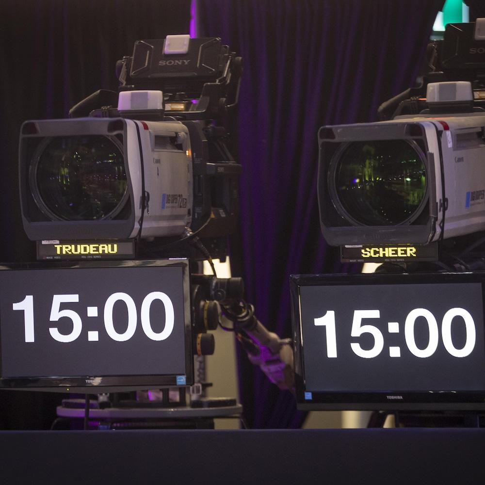 Des chronomètres sous des caméras.