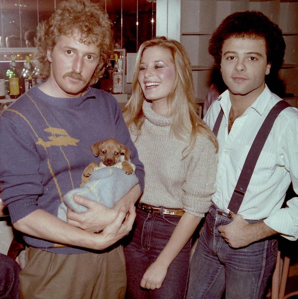 Guy Aubry, en compagnie de la chanteuse disco Linda Singer et Manuel Tadros.