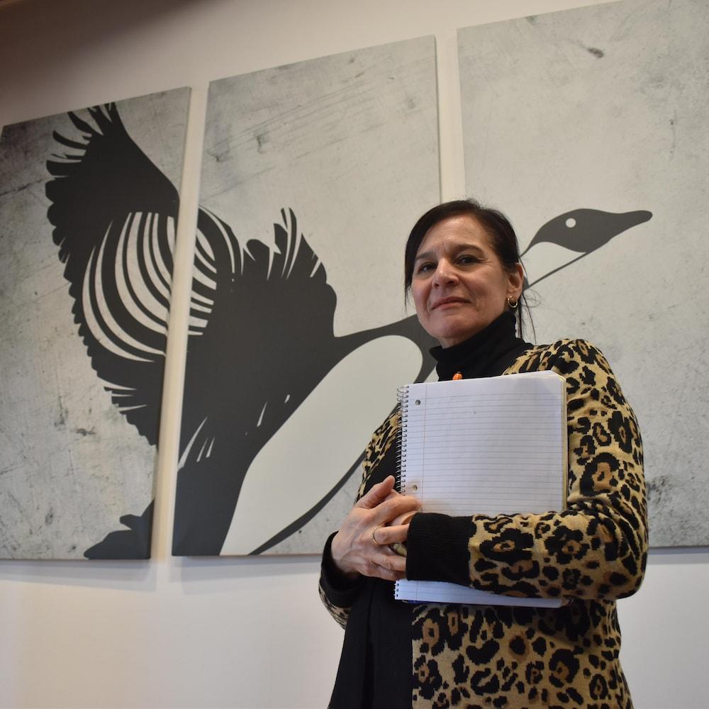 La directrice du Centre d'amitié autochtone de Val-d'Or, Édith Cloutier.