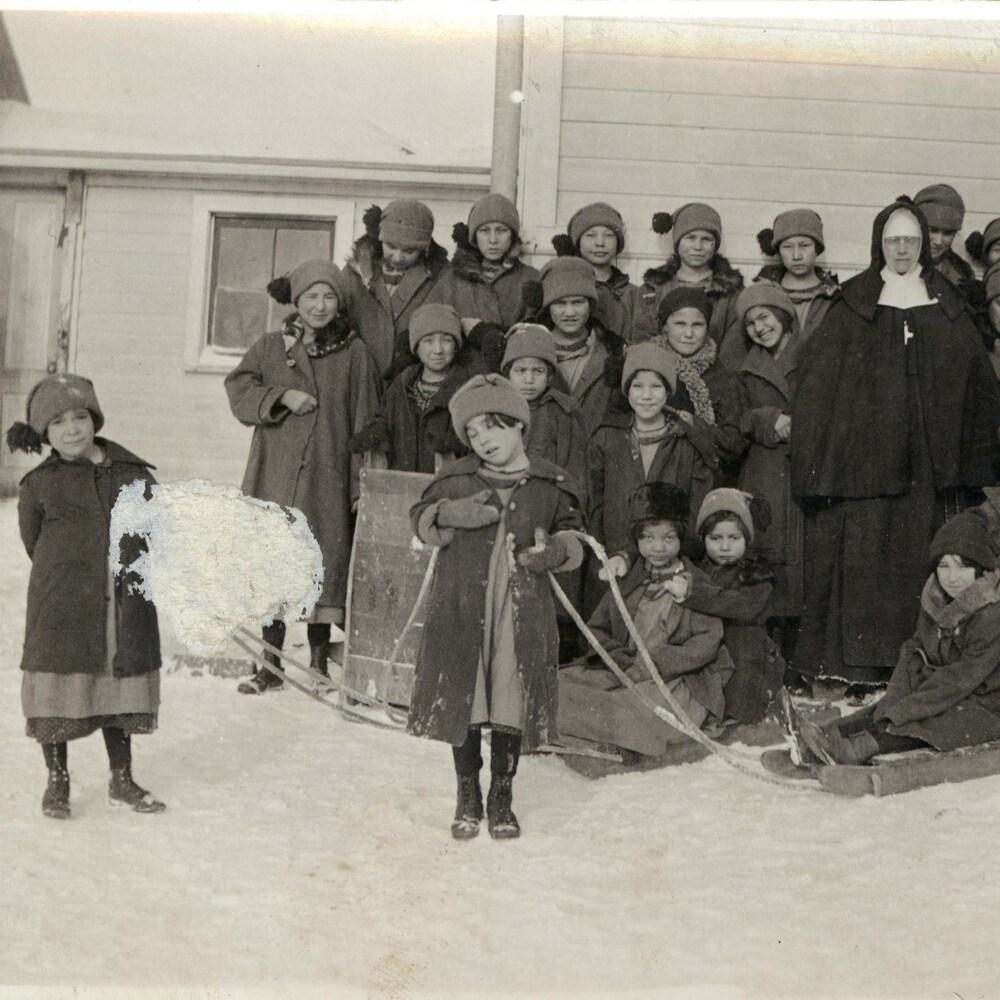 Des élèves d'une école résidentielle.