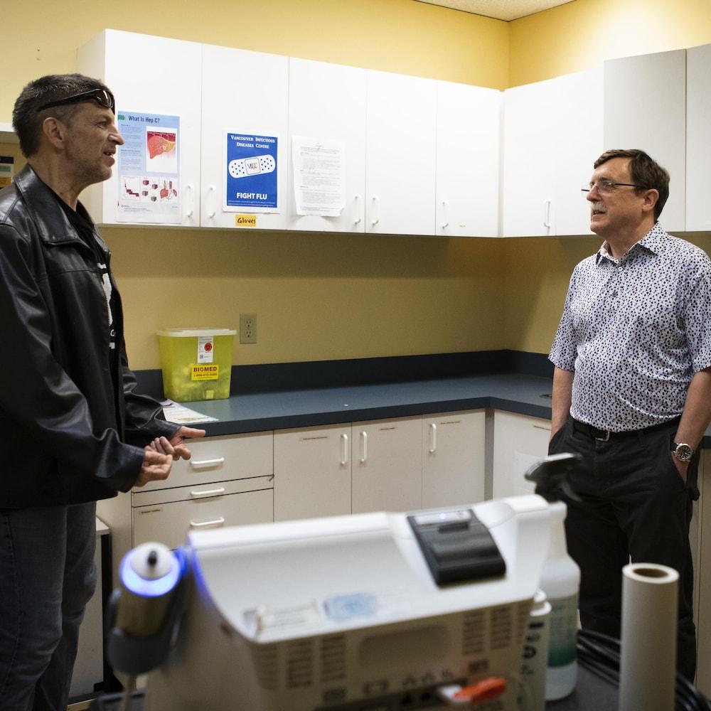 Dr Conway et son patient.