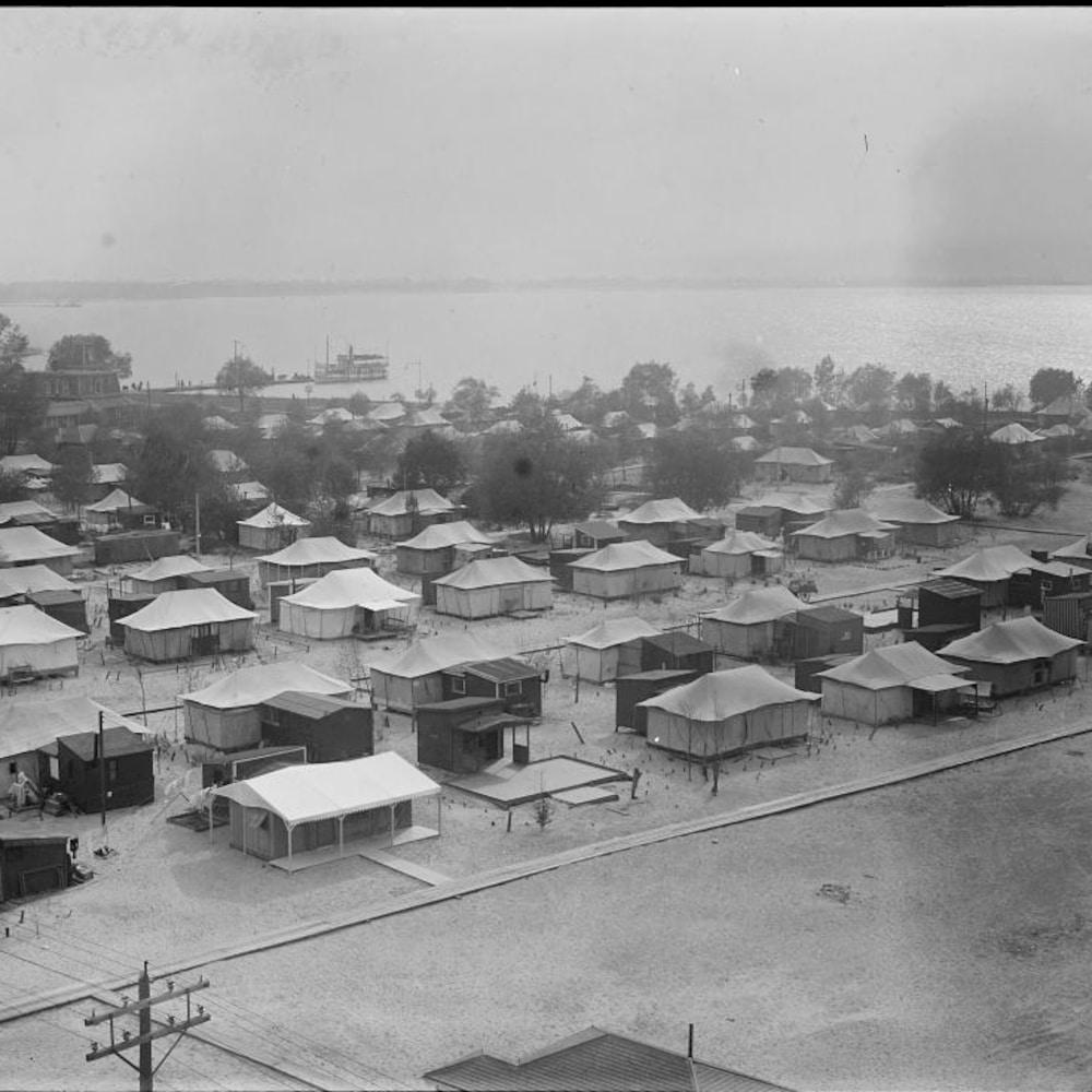 Des maisons sur l'île Ward, à Toronto.