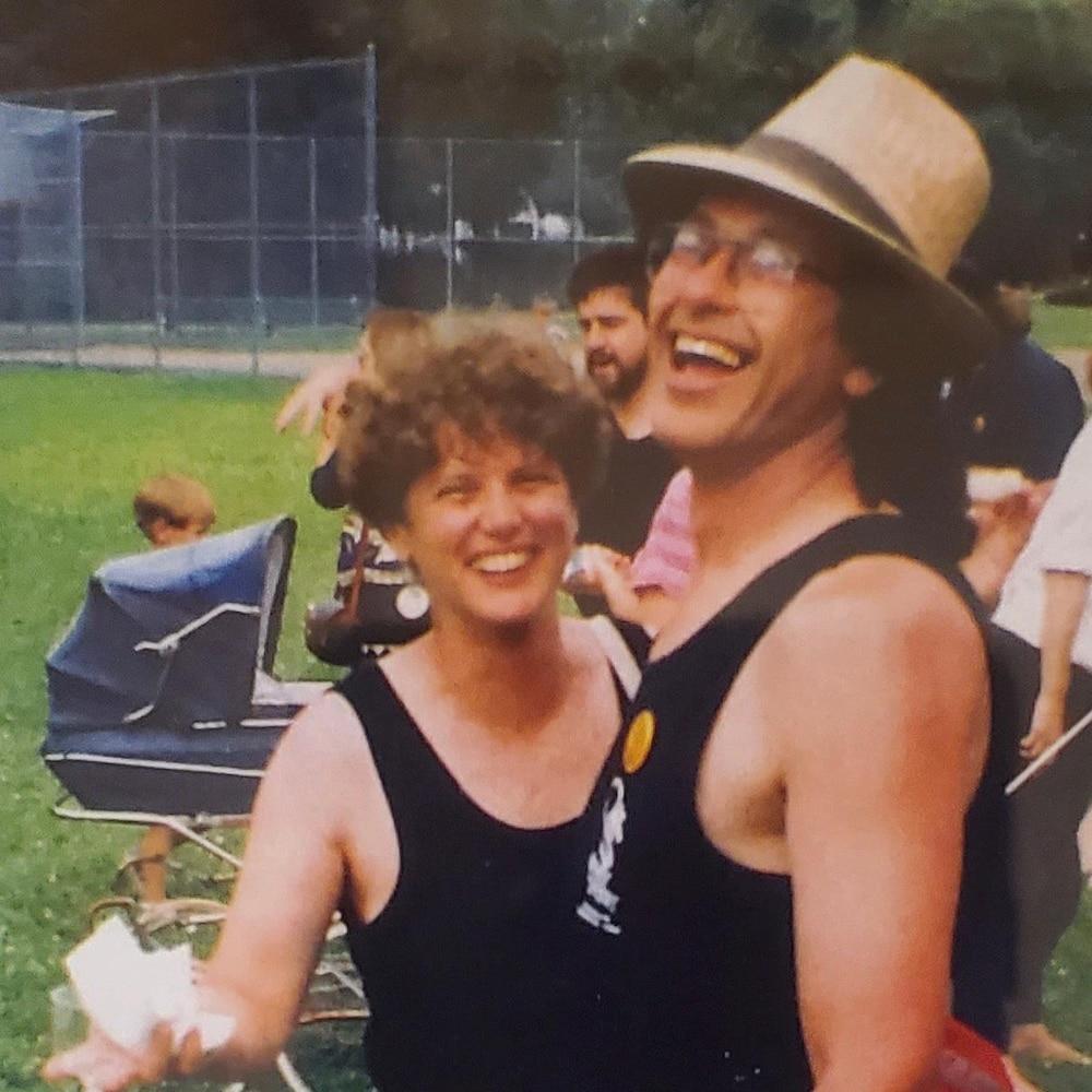 Le couple Daina et Barry dans les années 90.