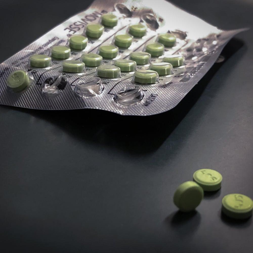 Comprimés d'hormones.