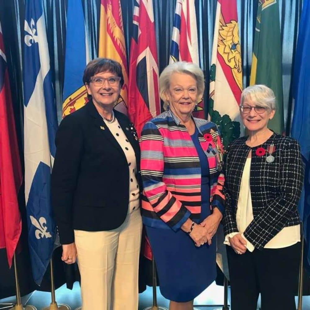 Trois femmes, Francine Proulx-Kenzle, Françoise Sigur-Cloutier et Vaughn Solomon Schofield