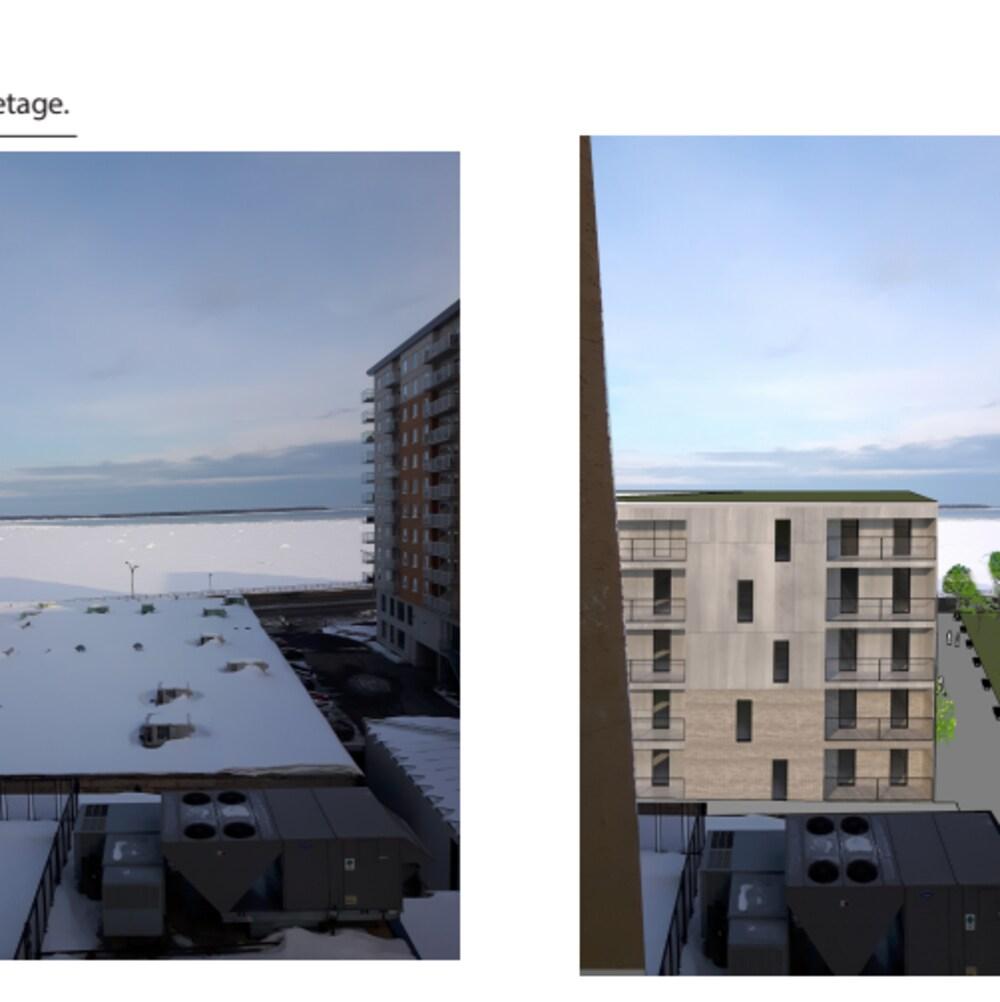 Deux images de la vue.