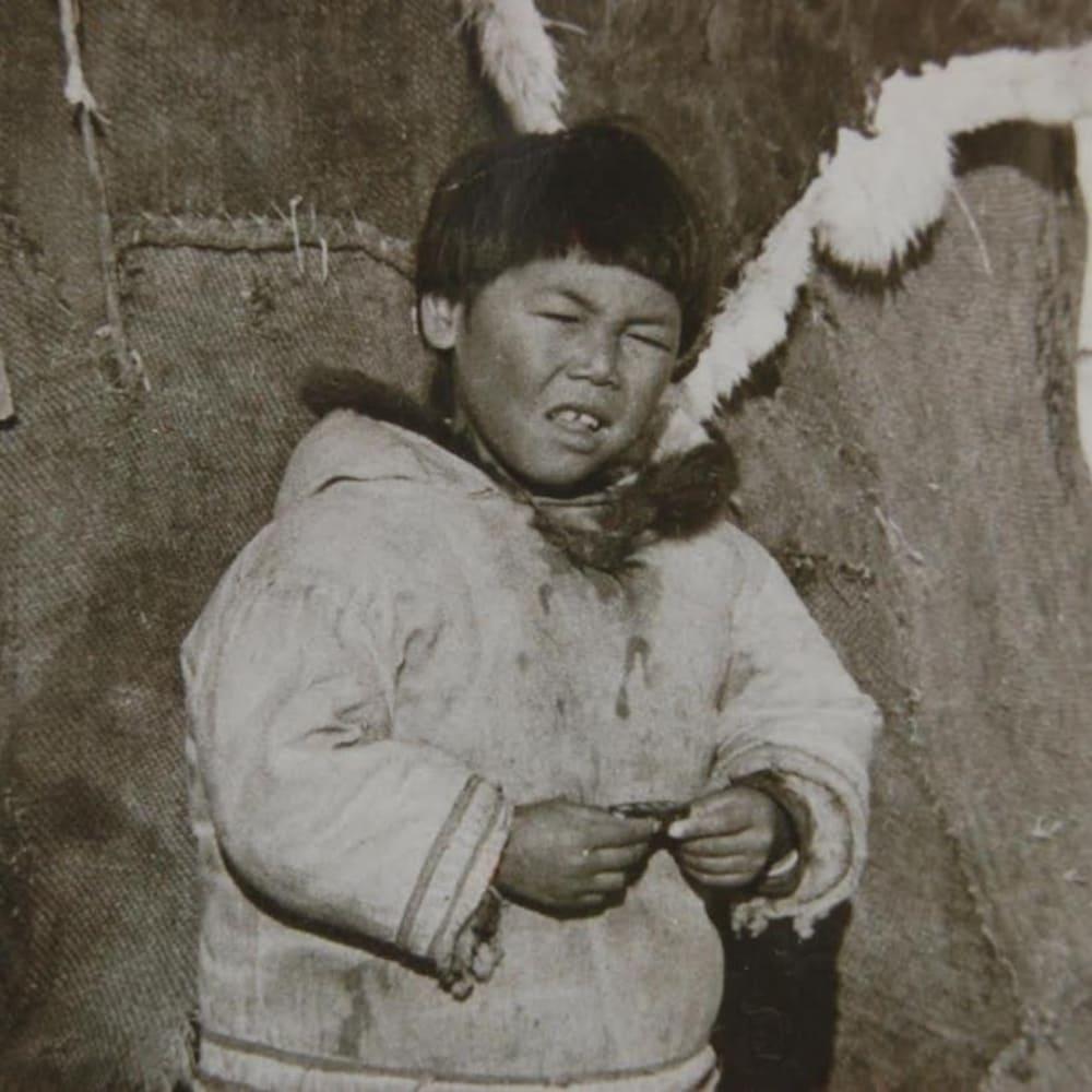Larry Audlaluk enfant.