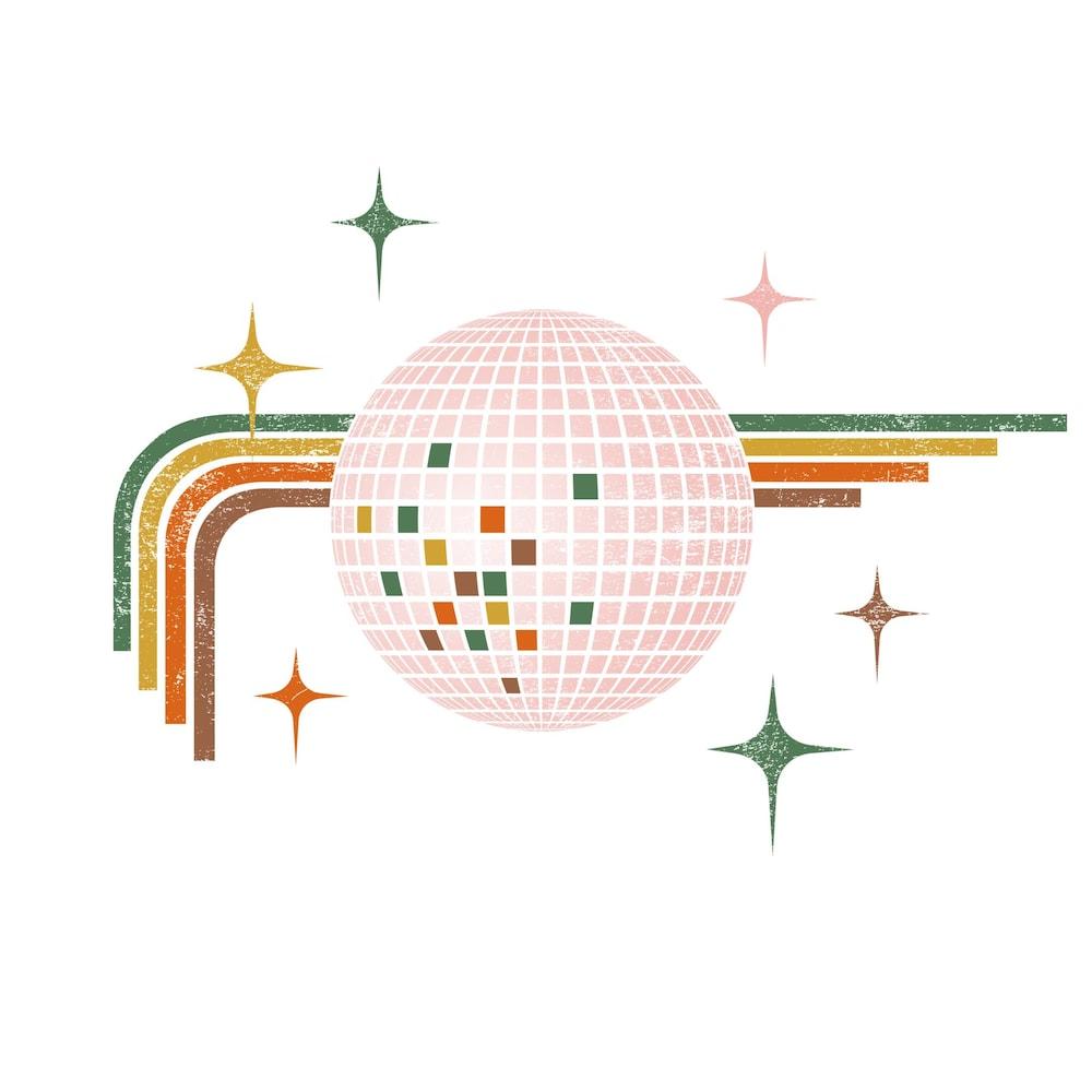 Illustration d'une boule disco.