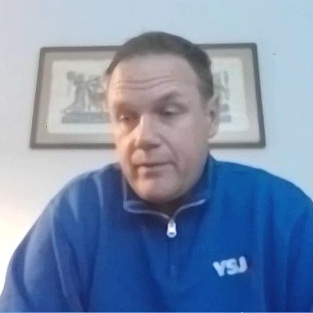 Jacques Fournier en entrevue par webcam.