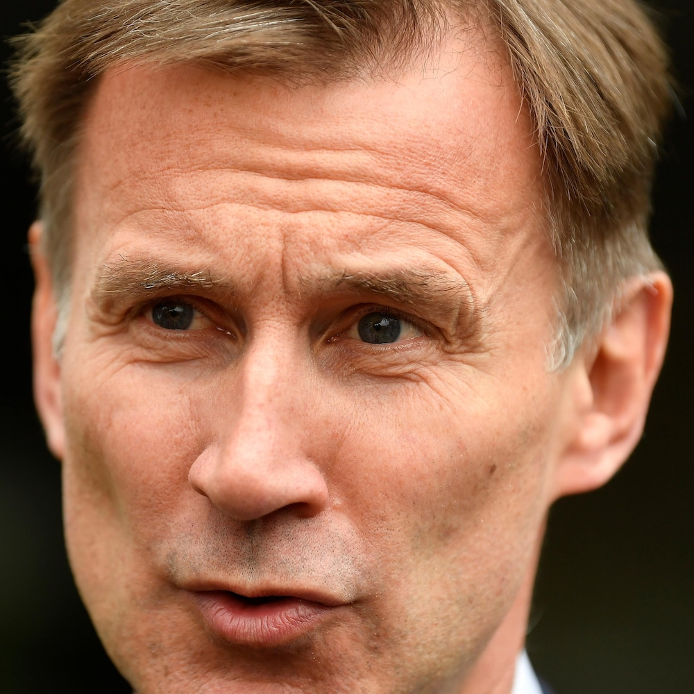Jeremy Hunt, prétendant à la succession de Theresa May, à Londres le 15 juin 2019.