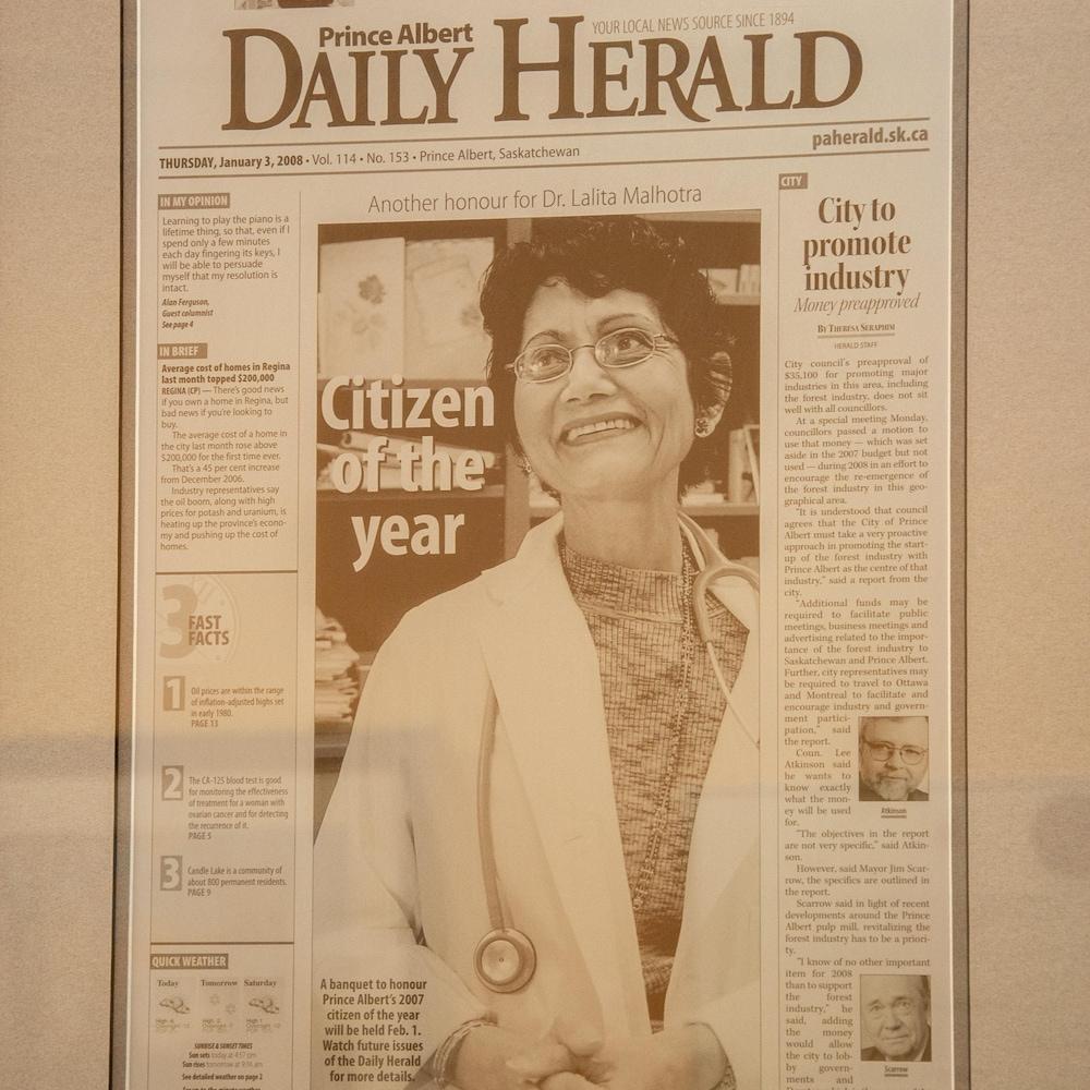 Lalita Malhotra dans un journal