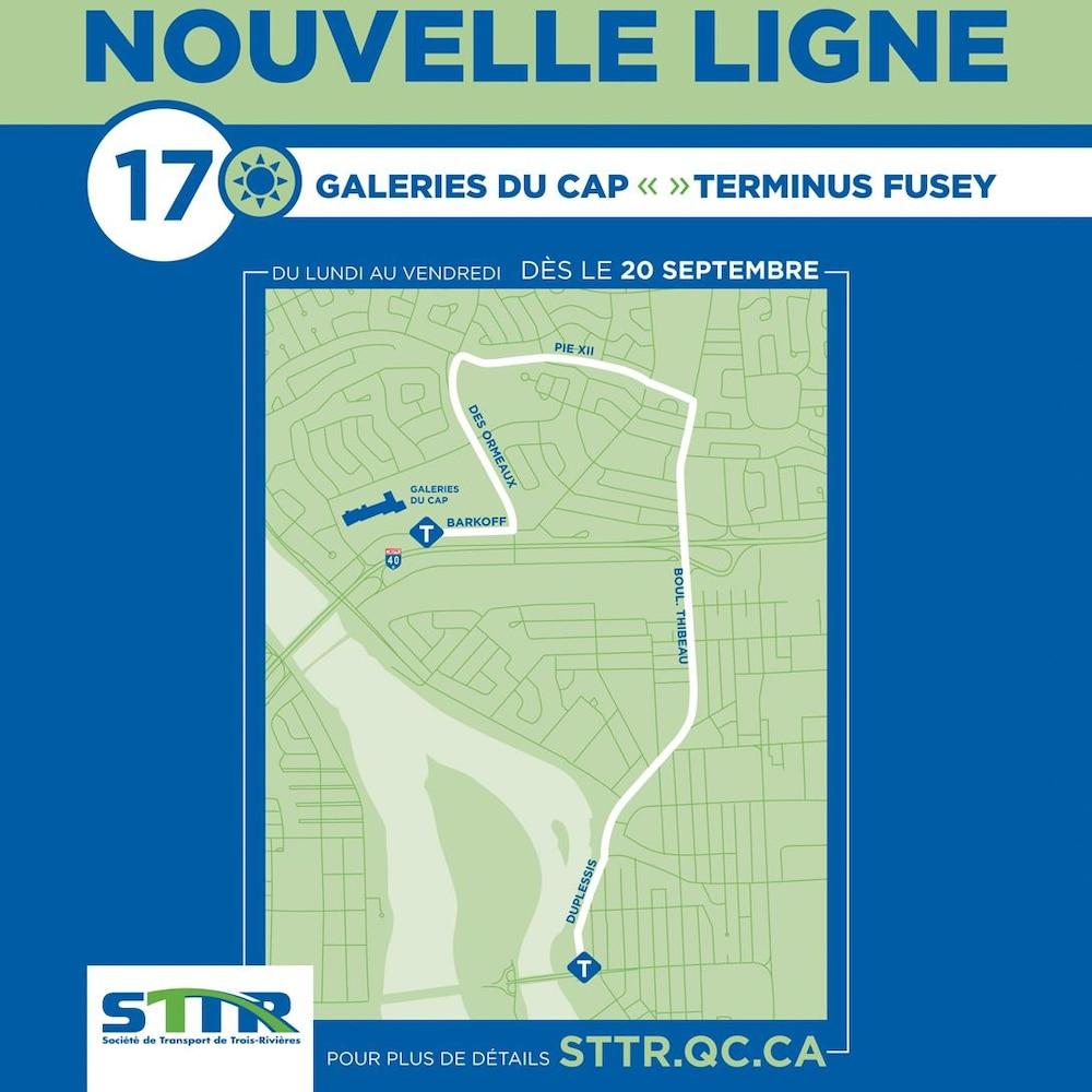 La ligne d'autobus qui reliera le terminus Fusey aux Galeries du Cap en passant par le boulevard Thibeau.