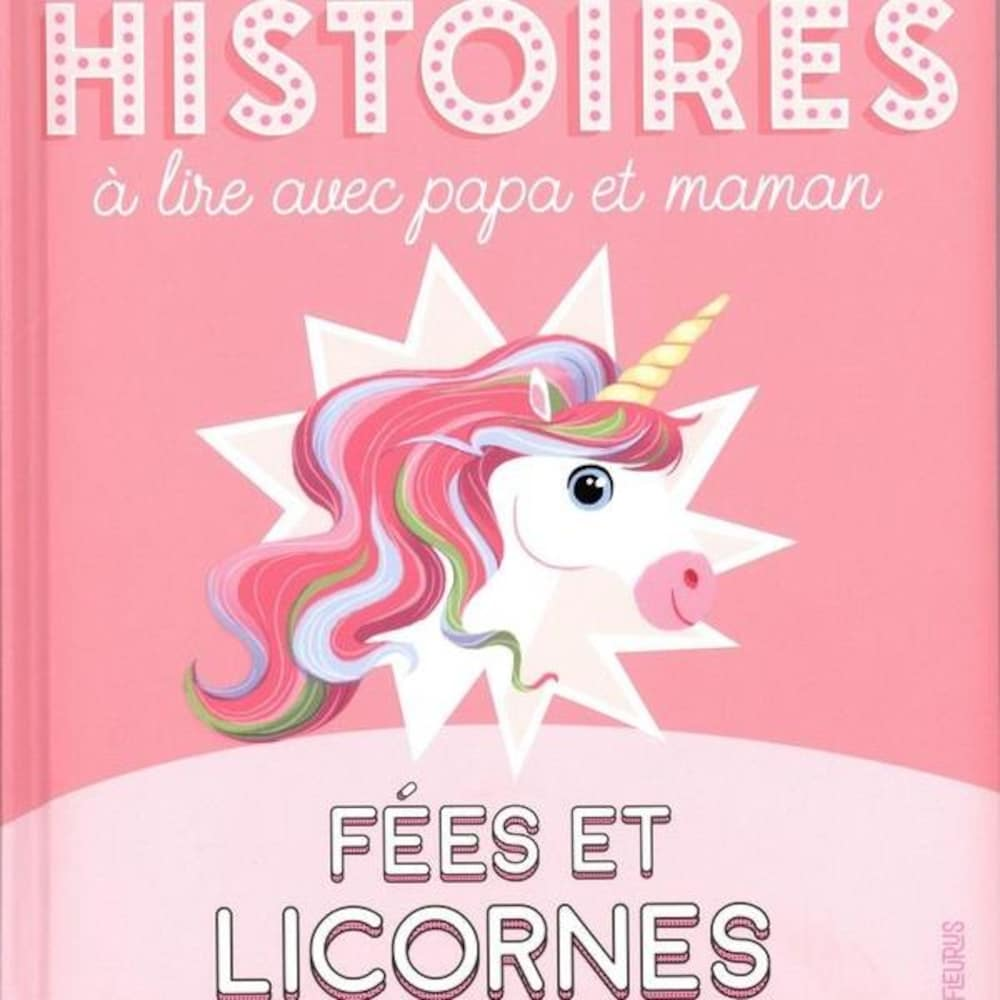 Une licorne est dessinée sur un fond rose.