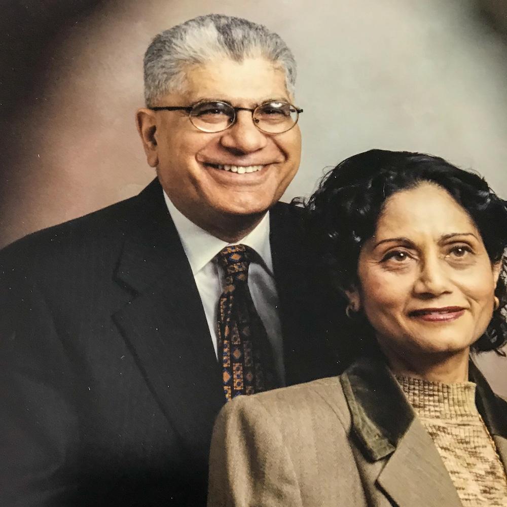 Lalita Malhotra et son mari