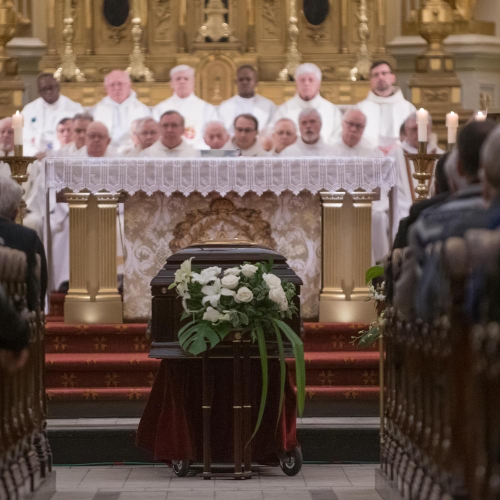 Les funérailles de Mgr Maurice Couture qui a été archevêque de Québec de 1990 à 2002.