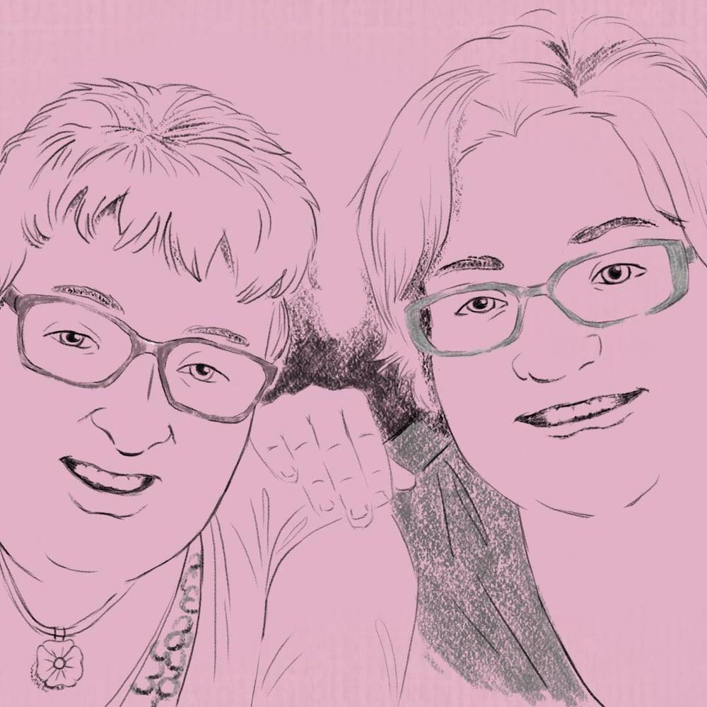 Rita Doiron et Gisèle Doiron.