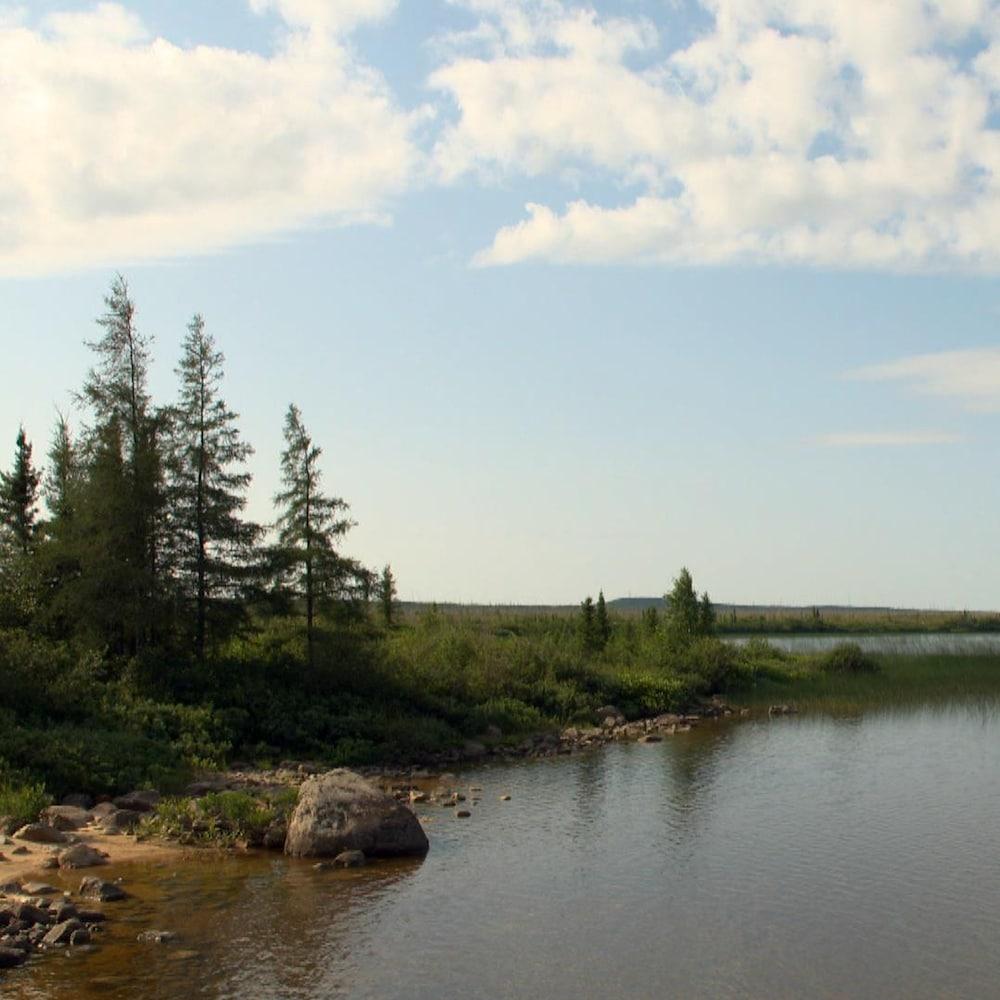 Un paysage près du village cri de Nemaska, dans le territoire d'Eeyou Istchee, dans le Nord-du-Québec.