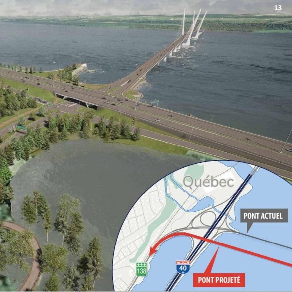 L'approche nord du pont sera modifiée.