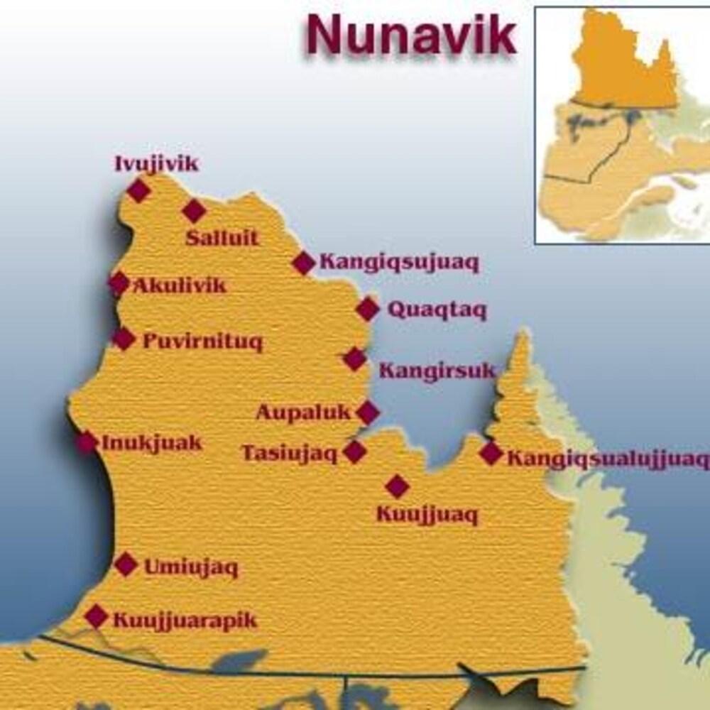 Le territoire du Nunavik est situé au-delà du 55ᵉ parallèle nord.