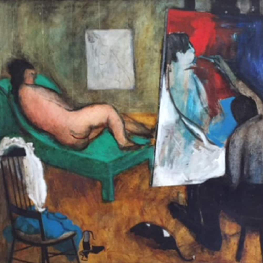La toile « Painter & Model » par Henry Wanton Jones.