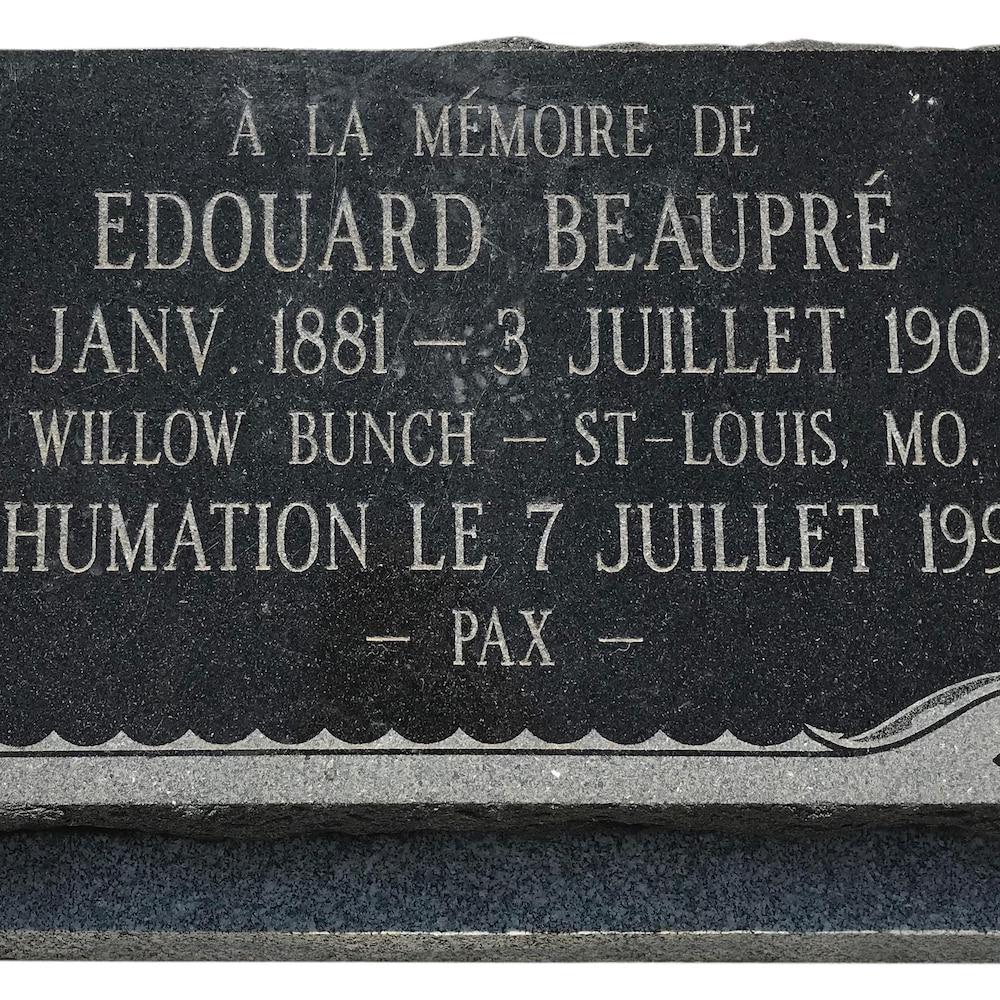 Pierre tombale d'Edouard Beaupré