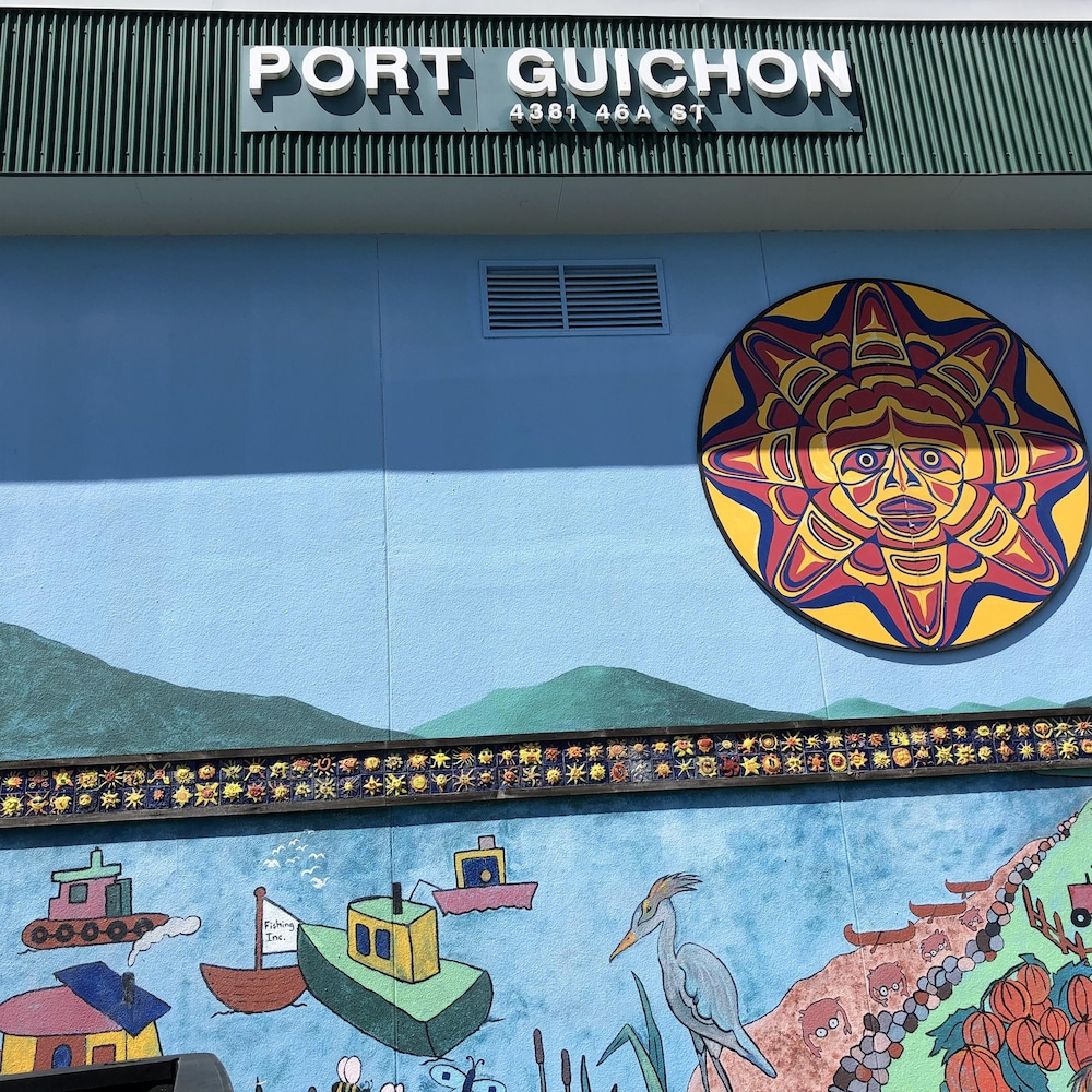 Murale illustrant port Guichon.